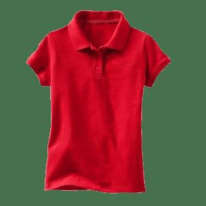 Girl's Solid Pique Polo