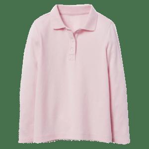 Girl's Long Sleeve Pique Polo