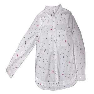 Girl's Long Sleeve Printed Shirt