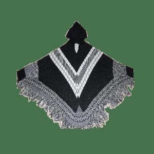 Women's Asymmetric Knitted Poncho