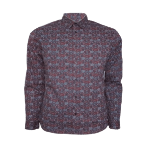 Men's Long Sleeve CVC Printed Shirt