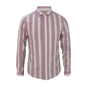 Men's Long Sleeve Vertical Striped Shirt