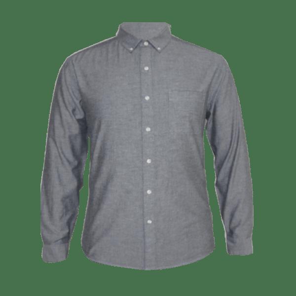 Men's Long Sleeve Chambray Shirt