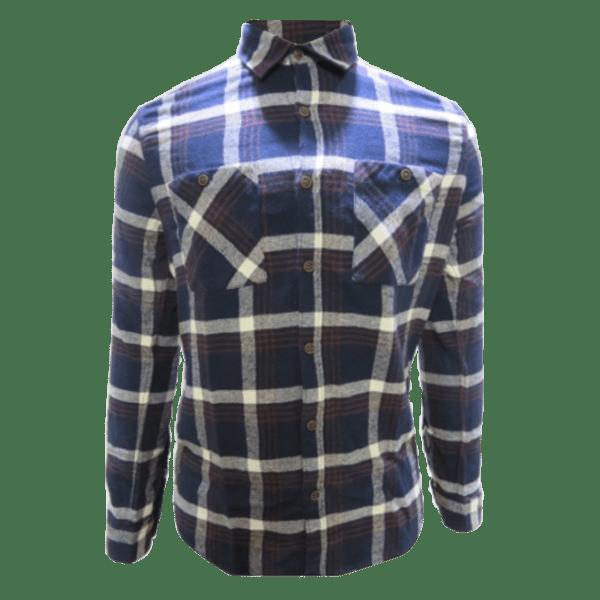 Men's Long Sleeve Brownie Flannel Western Shirt