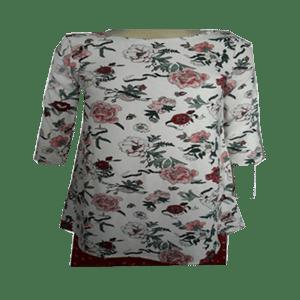 Women's 3/4 Sleeve Printed Top's