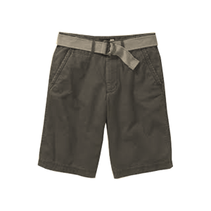 Men's Stretch Twill Belted Shorts