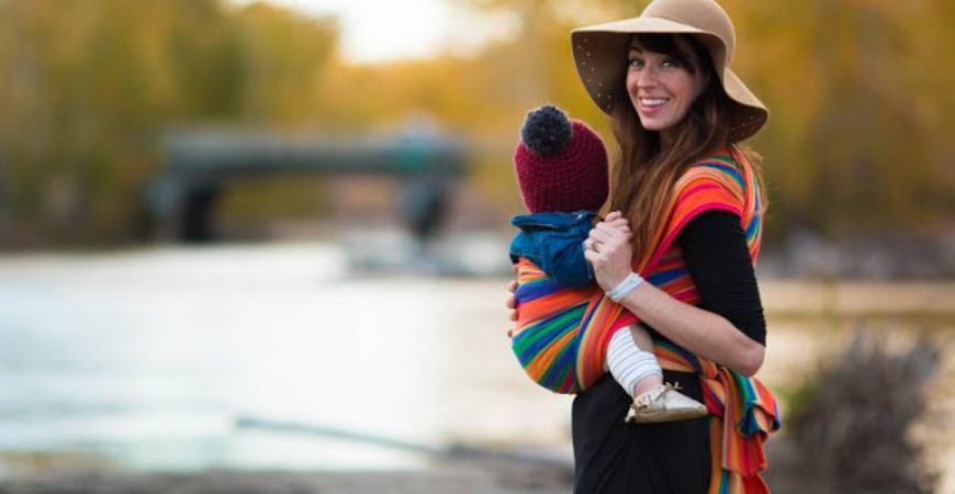 Fall Babywearing Photoshoot