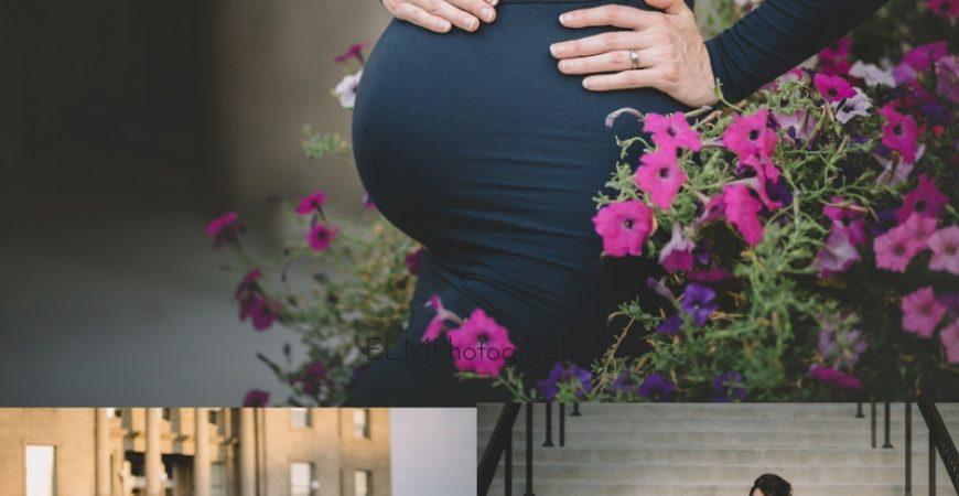 Glamorous Downtown Maternity Photoshoot