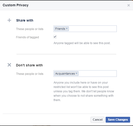 click custom privacy