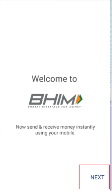 bhim_welcome_screen_click_next