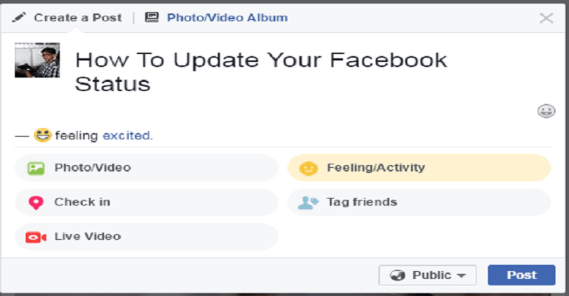 How to Update Your Facebook Status