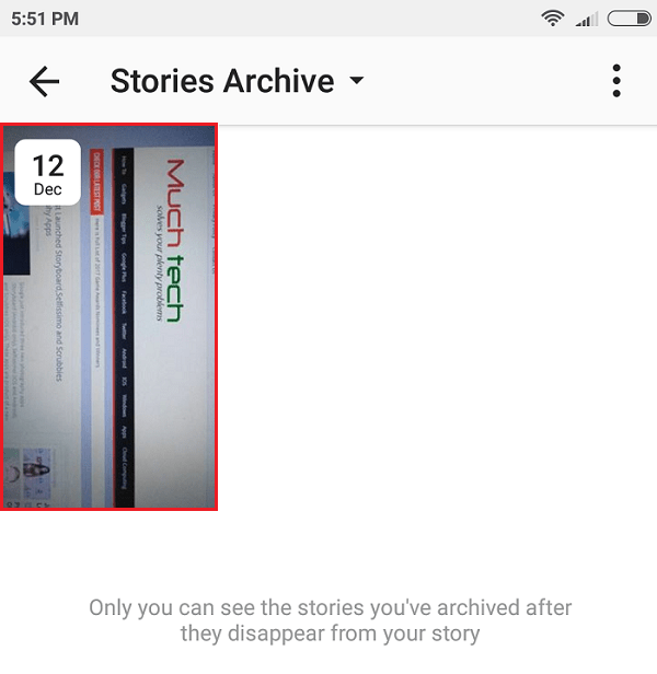Tap the Stories post