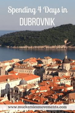 Spending 4 Days in Dubrovnik