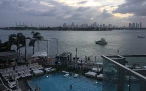 View from the room, Mondrian South Beach