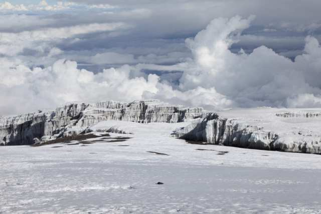 Glaciers at the top of Kilimanjaro