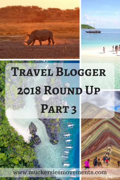 Travel Blogger 2018 Round Up Part 3