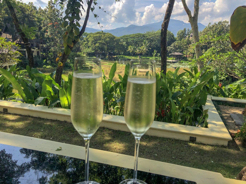 Prosecco at Four Seasons Resort Chiang Mai
