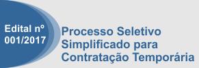Processo Seletivo simplificado 001/2017