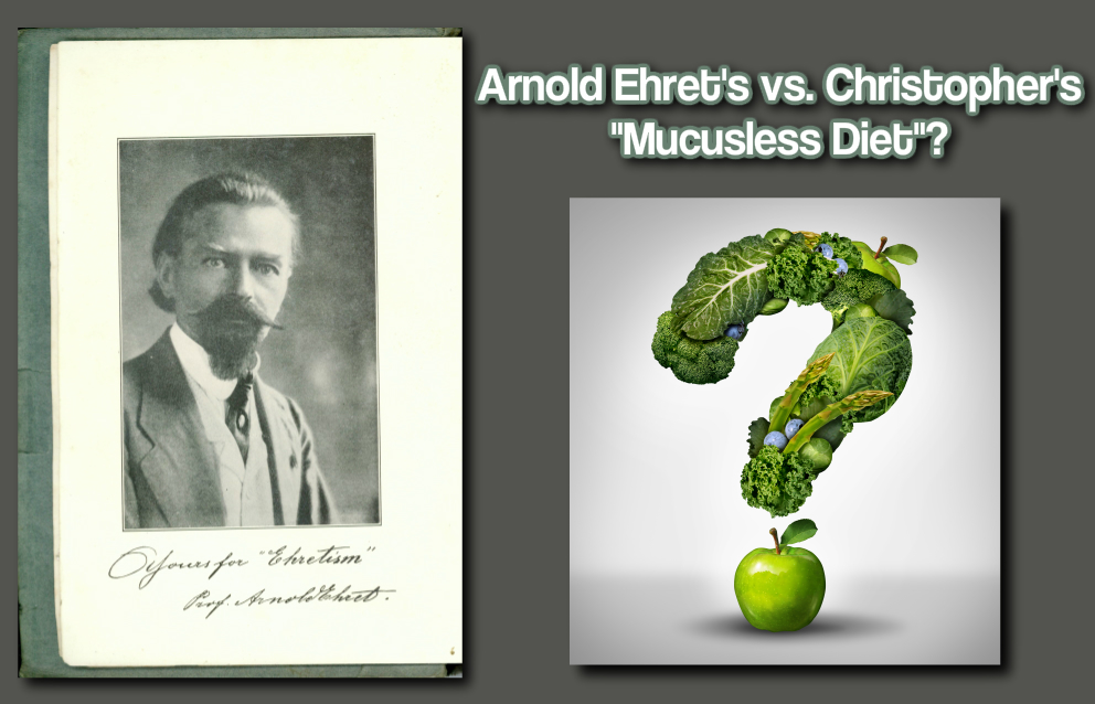 dr christopher mucusless diet