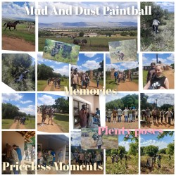 collage of paintball day highlights
