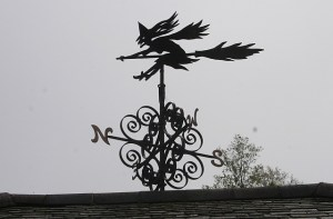 Windy witch weather vane