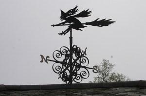 Windy witch weather vane