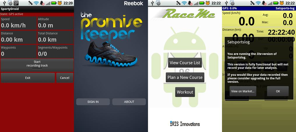 Five Things - Android Running Apps - Also Rans | Mud and Routes