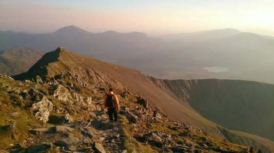 Snowdon South Ridge from Rhyd Ddu