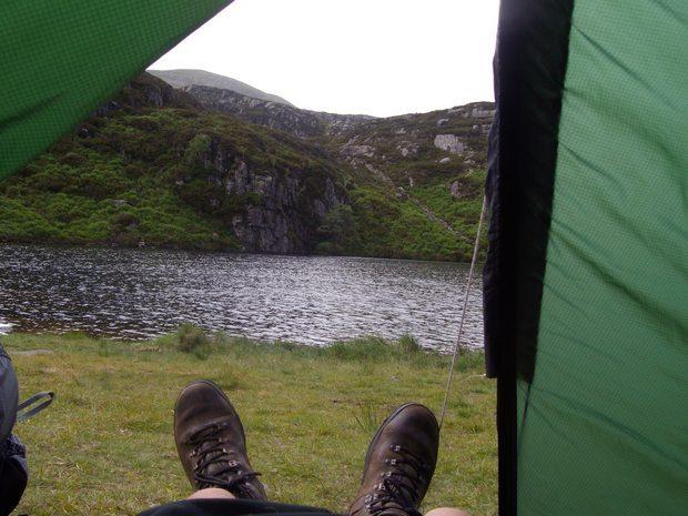 Wild Camping at Llyn Morwynion.