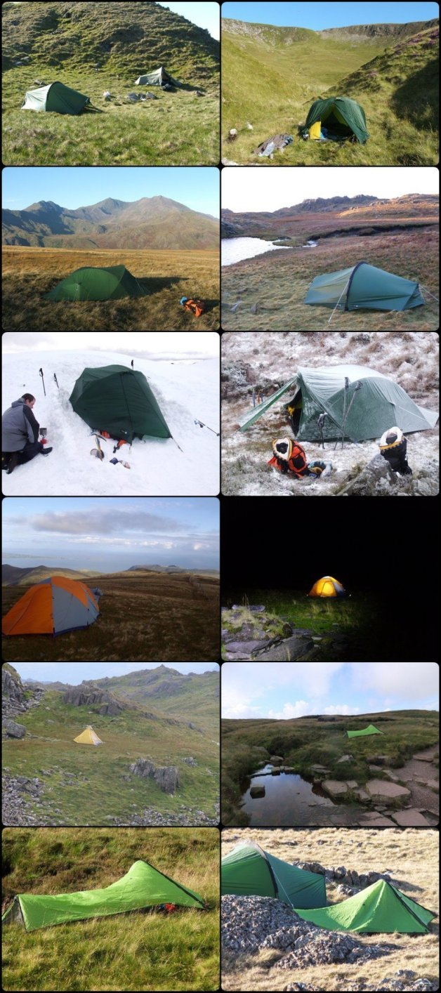 tents from green to greener