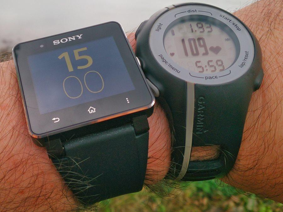 sony smartwatch and garmin