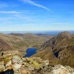 Deiniolen to Ogwen via Glyderau and Y Gribin Ridge Scramble