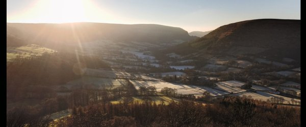 Walk From Llanthony –  The owl and the monk went to sea in a beautiful pea green valley