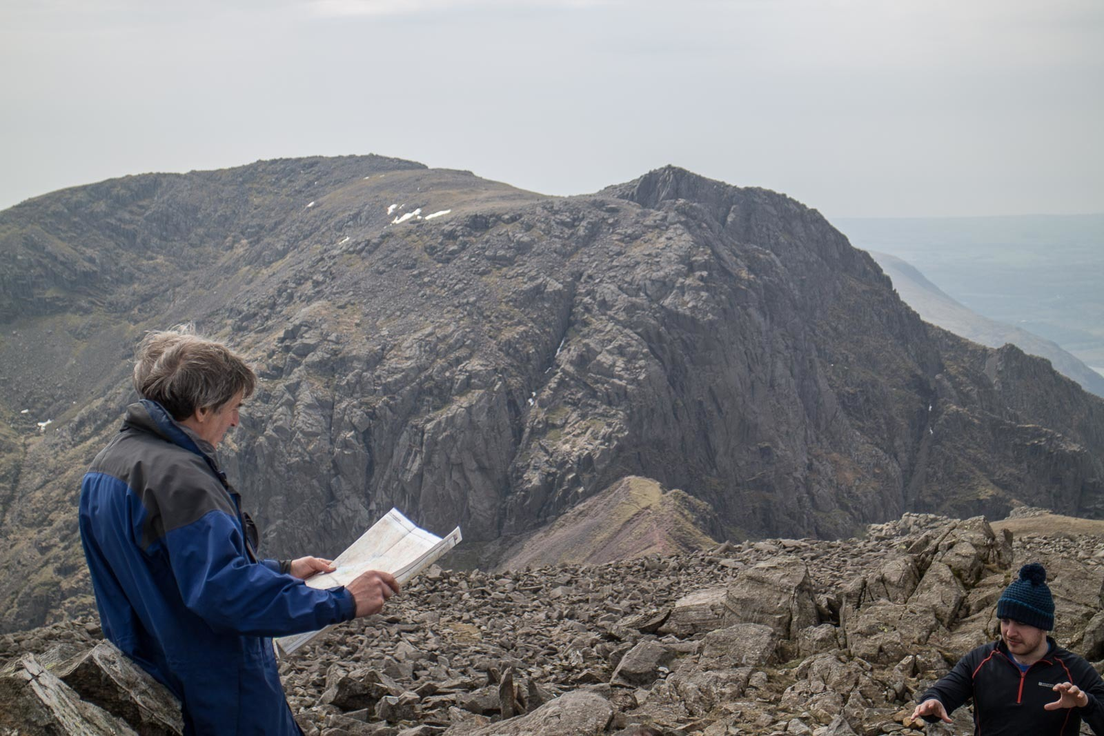 All the Walking Routes up Scafell Pike - Broad Stand and Scafell from Scafell Pike