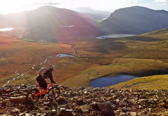 Mountain Biking down Snowdon is limited at certain times of year.