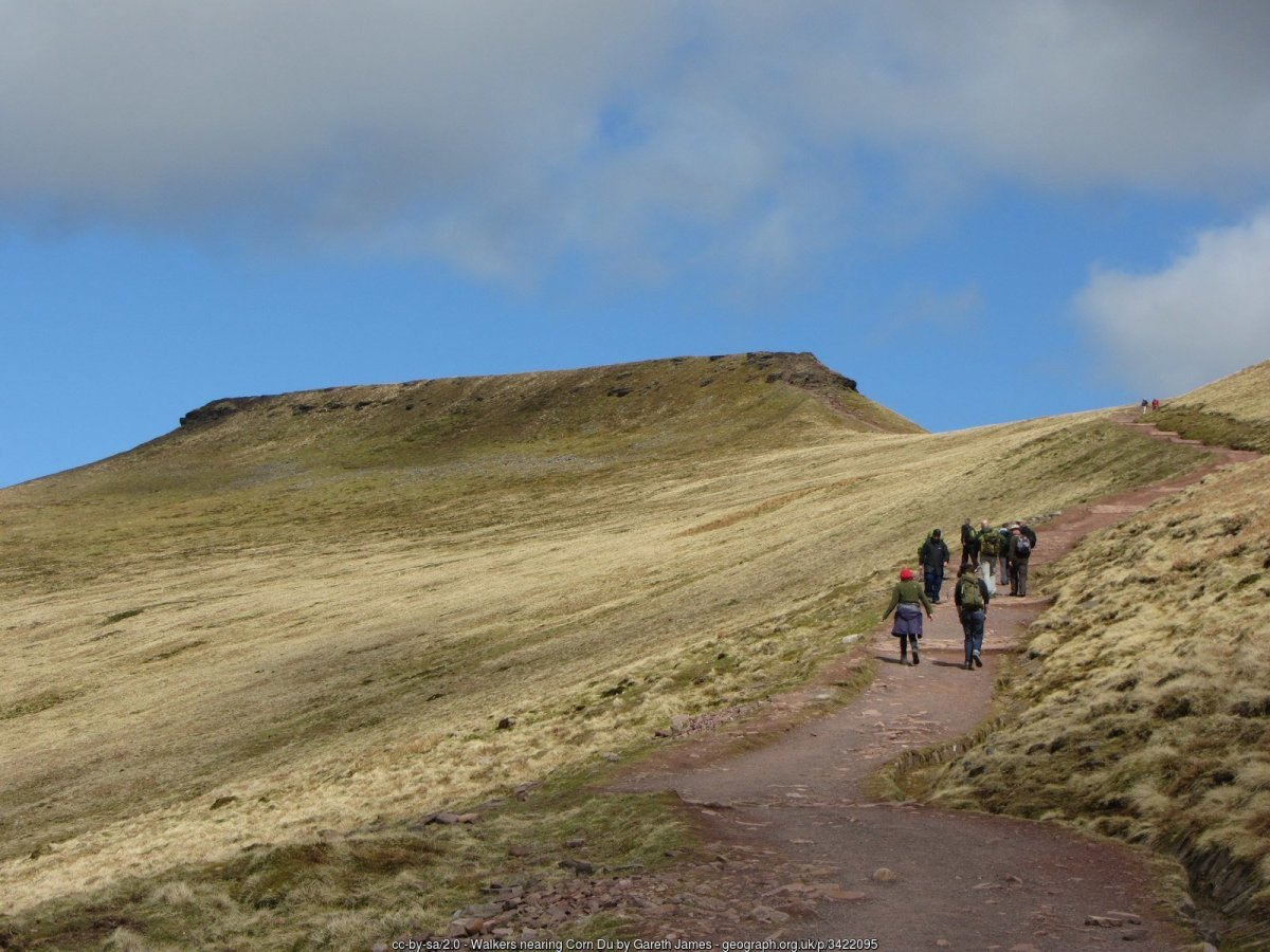 All the Walking Routes up Pen y Fan - From Storey Arms
