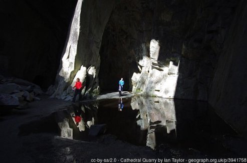 Great & Little Langdale Circular Walk - Cathedral Cave in Little Langdale