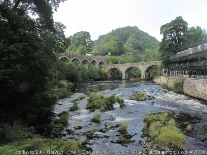 Easy Walk to the Horseshoe Falls near Llangollen