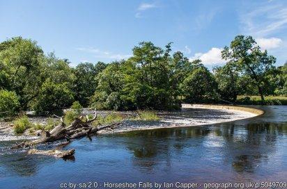 Easy Walk to the Horseshoe Falls near Llangollen
