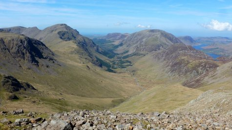 Walk up Great Gable from Wasdale Head via Sty Head and Aaron Slack