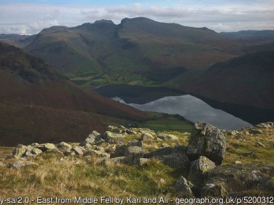 Walk up Middle Fell, Seatallan and Buckbarrow from Wastwater - Best Walks from Wasdale