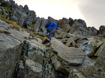 The Gribin Ridge Scramble up Glyder Fach