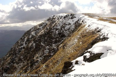 Blease Fell and Knowe Crags