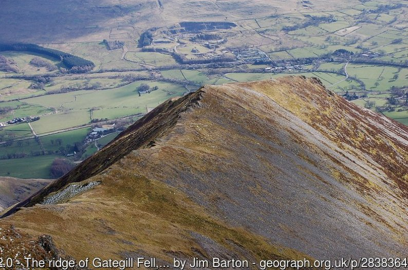 The ridge of Gategill Fell, Blencathra