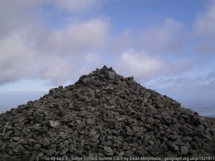 The summit is marked by this cairn