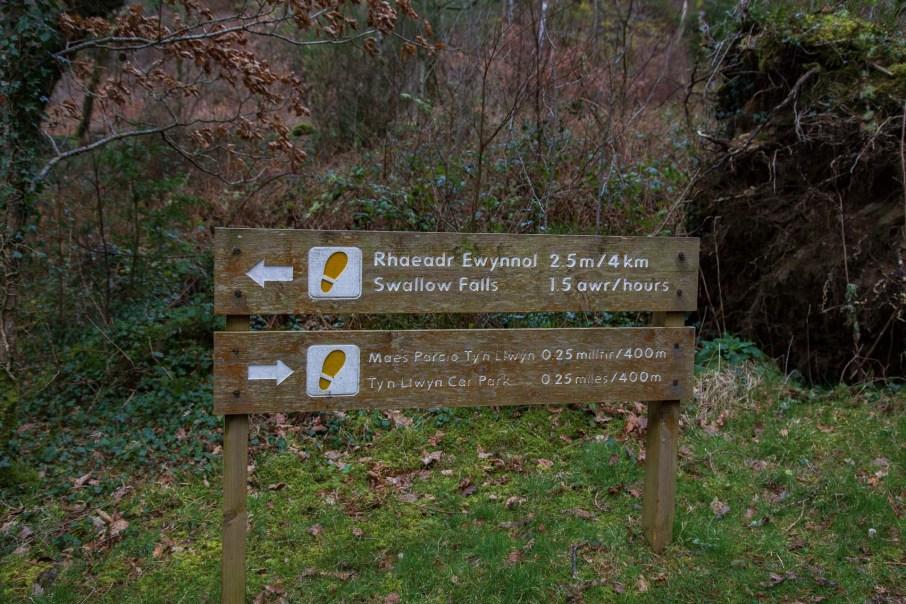 The Swallow Falls Trail Waymarked Walk