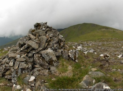 An Riabhachan The summit viewed from the cairn on the subsidiary summit to the northeast.
