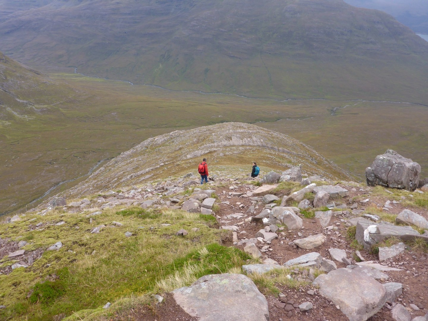 The descent on the south-east ridge