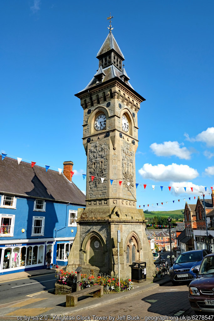Knighton Clock Tower Knighton Clock Tower was erected in 1872 and designed by Haddon Brothers of Hereford.