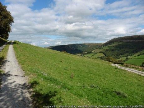 Glyndwr's Way near Pant-y-dwr